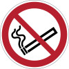DURABLE SAFETY SIGN - SMOKING PROHIBITED Red