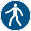 DURABLE SAFETY SIGN - USE WALKWAY Blue