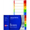 AVERY L7411-10 READY INDEX PP A4 1-10 Index Asstd Tabs Includes 10 Tabs
