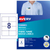 AVERY L4718 FABRIC NAME LABELS 8/Sht 86.5x55.5 Acetate Silk Pack of 120