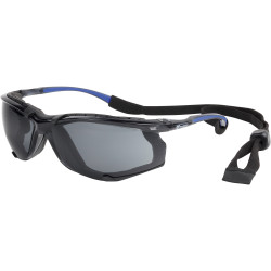 3M Protector Eyewear S56SDGR Safety Specs With Dust Guard Smoke Lens