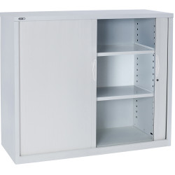 RAPIDLINE GO TAMBOUR CUPBOARD 2 SHELVES 900 W x 1016mm H x 473mm D White China