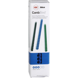 IBICO PVC COMB 21 RING 10MM BINDING COILS BLUE