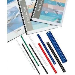 IBICO PVC COMB 21 RING BINDING COILS 12mm Blue