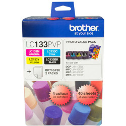 BROTHER LC133 VALUE PACK BLACK PLUS COLOURS