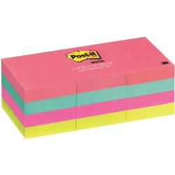 653AN POST-IT NOTE - NEON ASSORTED COLOURS 38MM X 50MM 38MM 653AN POST