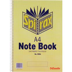 SPIRAX 595A 56059 NOTEBOOK A4 240PG