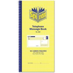 SPIRAX NO 550 TELEPHONE MESSAGE BOOKS 550 160 Dup. 4/view SB