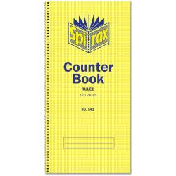 SPIRAX 543 COUNTER BOOK S/O 60 LEAF FEINT - 297 X 135MM SPIRAX 543