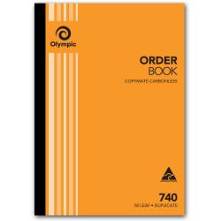 OLYMPIC ORDER BOOK 740 140864 DUPLICATE CARBONLESS