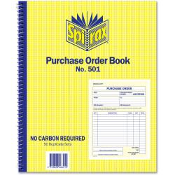 SPIRAX BUSINESS BOOKS 501 Purchase Order 250x200mm
