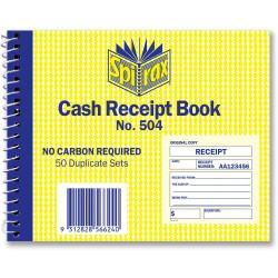 SPIRAX 504 CASH RECEIPT BOOK 250x200mm SB