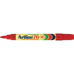 ARTLINE 70 PERM MARKERS RED 107002