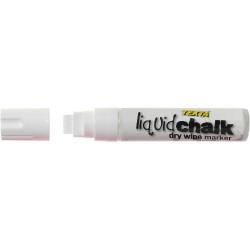 TEXTA JUMBO LIQUID CHALK WHITE Dry Wipe Chisel 15mm