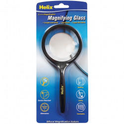 HELIX HAND HELD MAGNIFYING GLASS BLACK