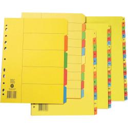 MARBIG MANILLA DIVIDER A4 1-20 Tab Bright