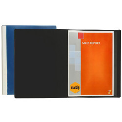 MARBIG CLEARVIEW DISPLAY BOOK A4 24 Pocket Black
