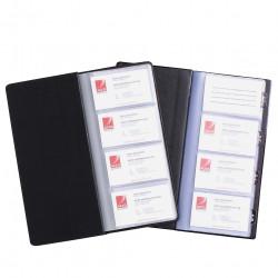 MARBIG 96 CARD BUS CARD BOOK Non-Indexed Black