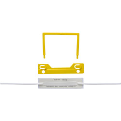 AVERY TUBECLIP FILE FASTENER YELLOW COMPLETE BX 100 44009Y