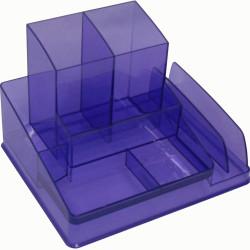 ITALPLAST DESK ORGANISER Translucent Purple