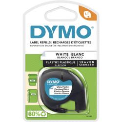 DYMO LETRA TAG WHITE PLASTIC 2079304 91331