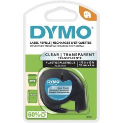 DYMO LETRATAG LAB CLEAR PLAS 12MM X 4M