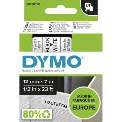 DYMO TAPE D1 45013 12mm x 7m BLACK ON WHITE