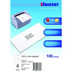 UNISTAT LABELS 4 UP 38930