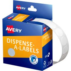 AVERY DISP CIRCLES14MM WHITE DMC14W 937200