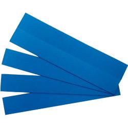 QUARTET MAGNETIC STRIPS. 22x150mm Blue 25PK