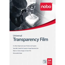NOBO UNIVERSAL OHP FILM INKJET AND LASER PK25
