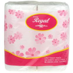 TOILET ROLLS Regal Premium 2Ply 250 Sht carton of 12*4