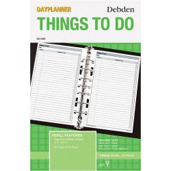 DEBDEN DAYPLANNER REFILL DESK Things To Do 216x140mm