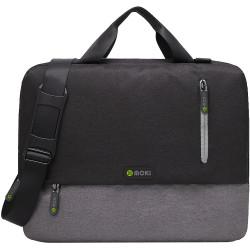 Moki Odyssey Satchel Fits up to 15.6 Inch Laptop Black / Grey